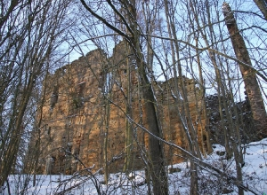 Burgruine im Winter_2